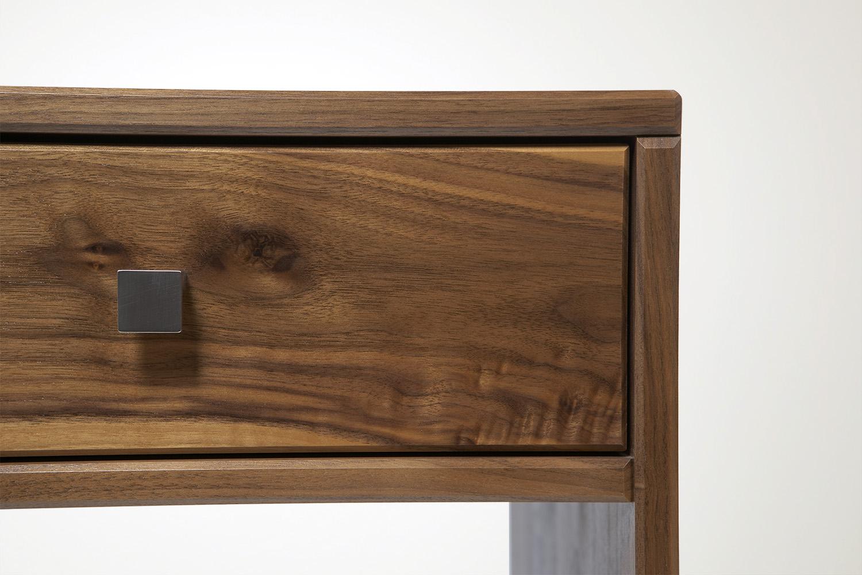Touch Side Table in walnut (detail) - Speke Klein