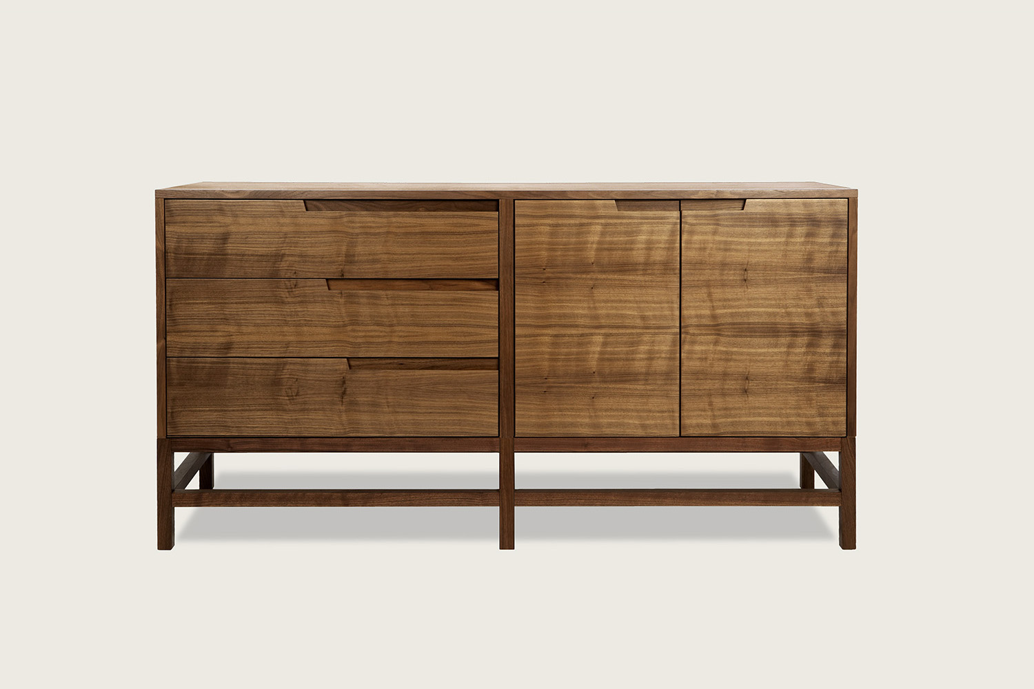 Linea 3-Drawer/2-Door Sideboard in walnut - Speke Klein