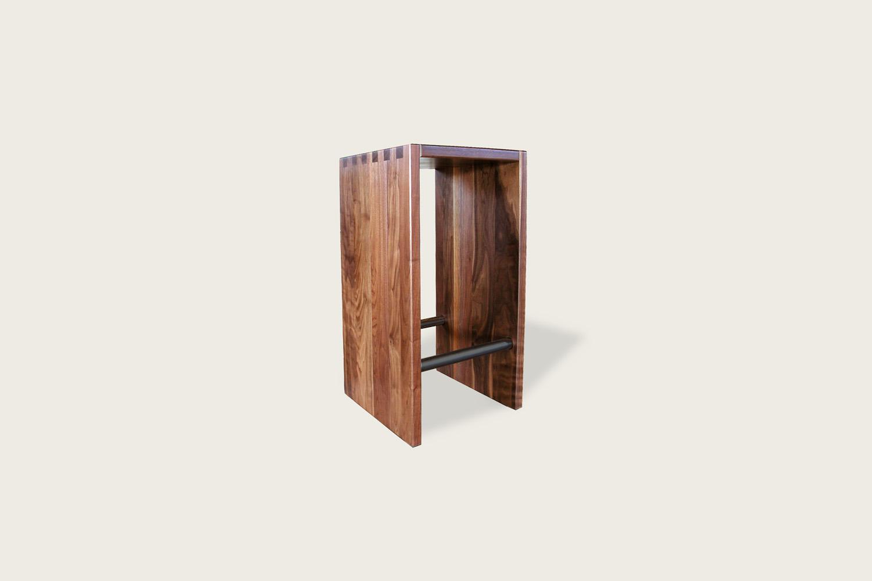 Speke Klein - Touch Bar Stool in solid walnut