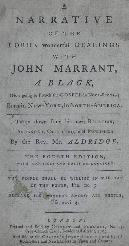 The Fourth Edition of Marrant's Narrative