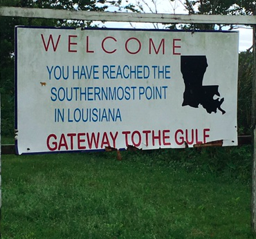 * Not the southernmost point in Louisiana. Photo by Tony.