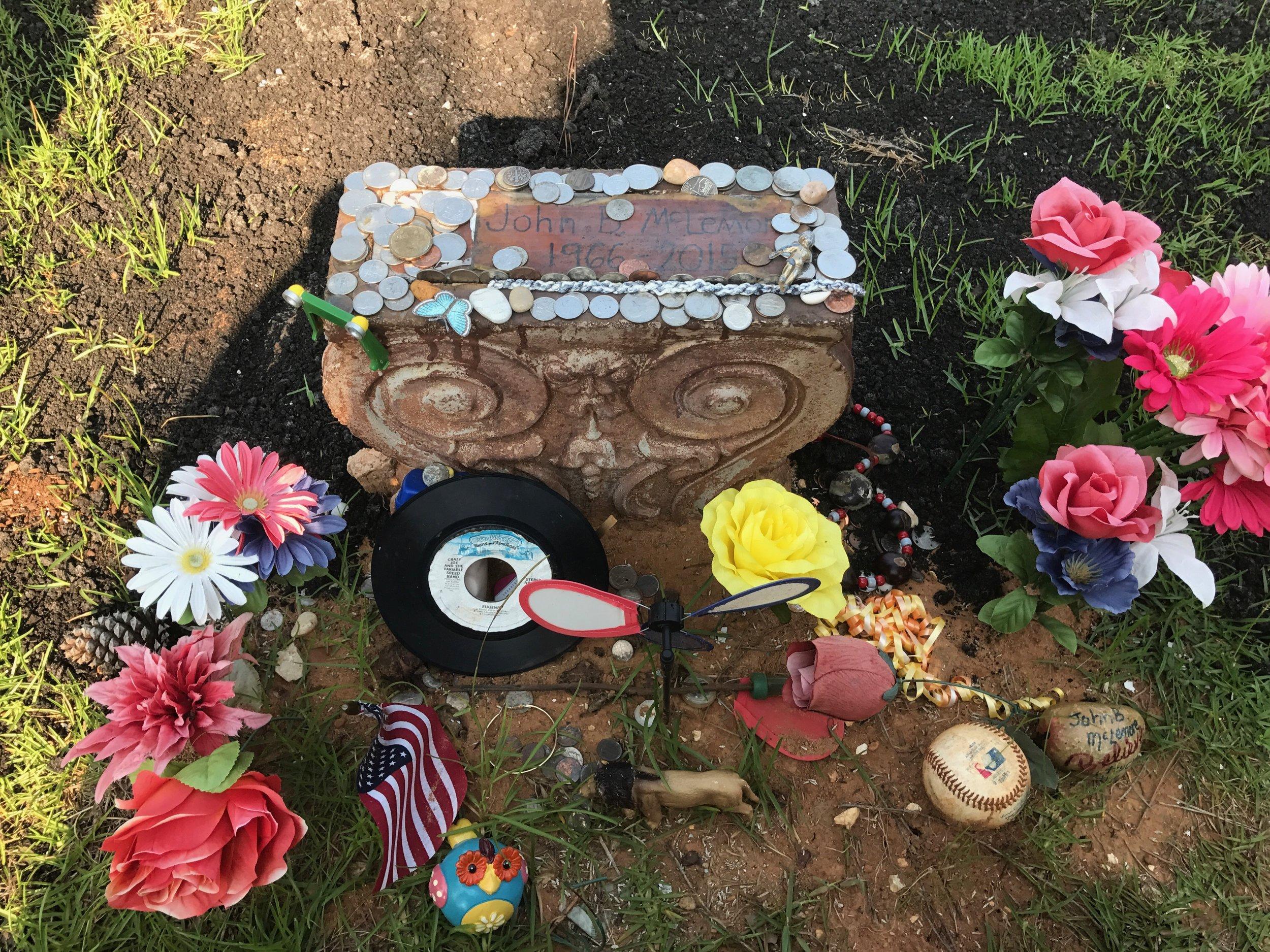 John B. McLemore's grave in Woodstock, Alabama. Photo by Kelly Vines.