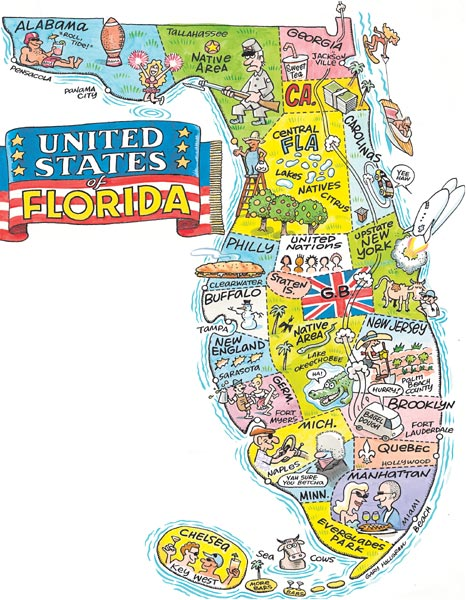 Stereotypical representation of Florida.