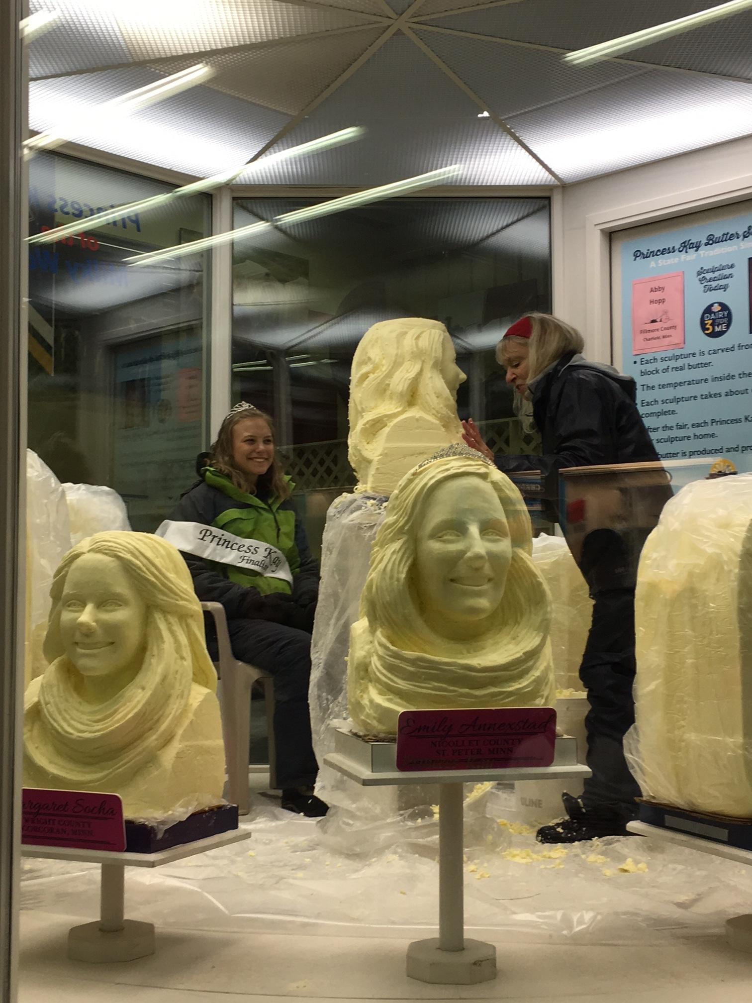 Butter Sculpture.