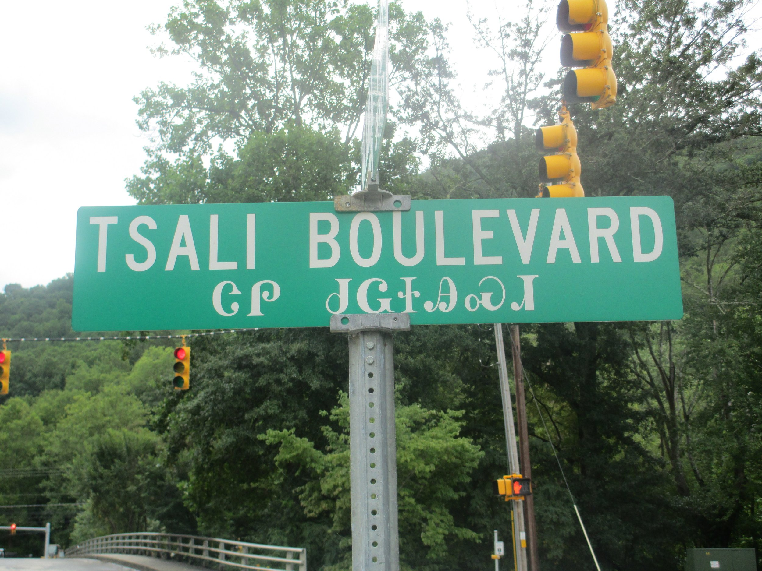 Street Sign in Cherokee, NC | Photo by Billy Hathorn via Wikimedia Commons