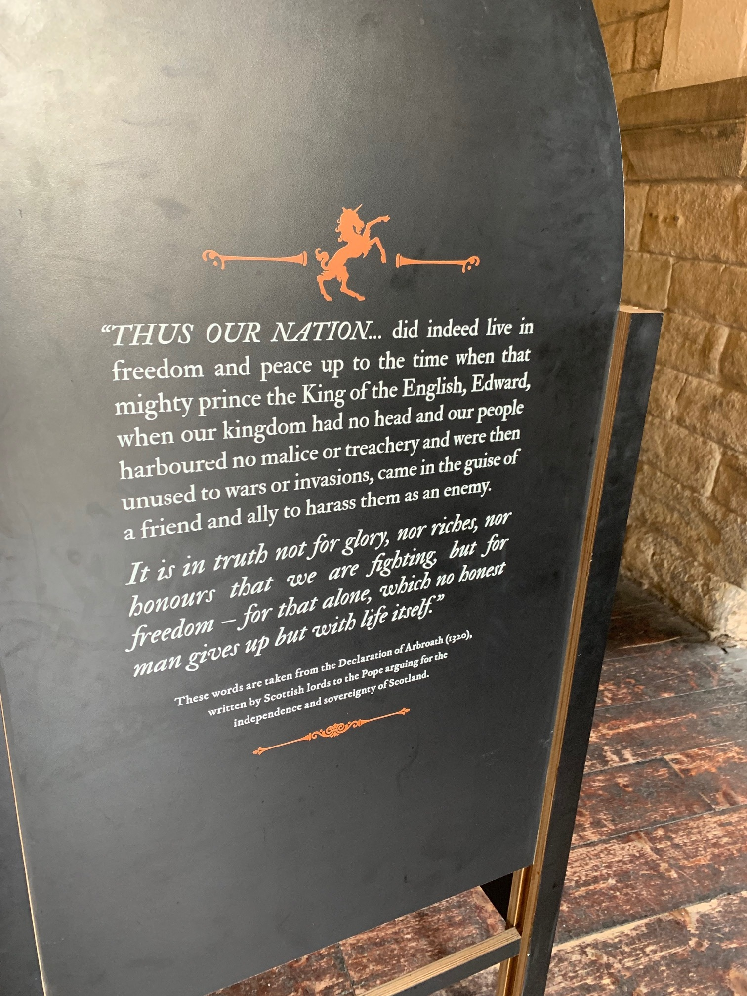 Interpretative signage at The Castle in Newcastle upon Tyne. Photo by Gina Caison.