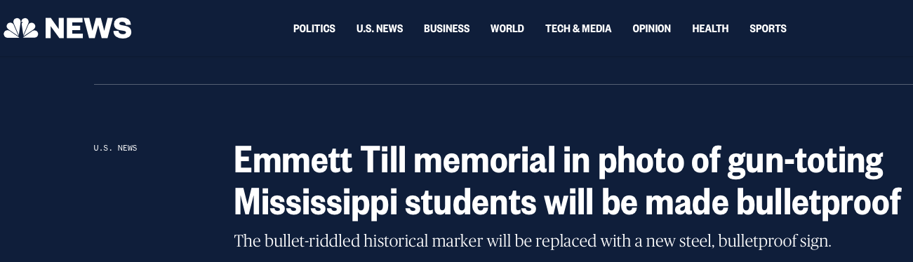 Headlines about the vandalism by the University of Mississippi students made national news.