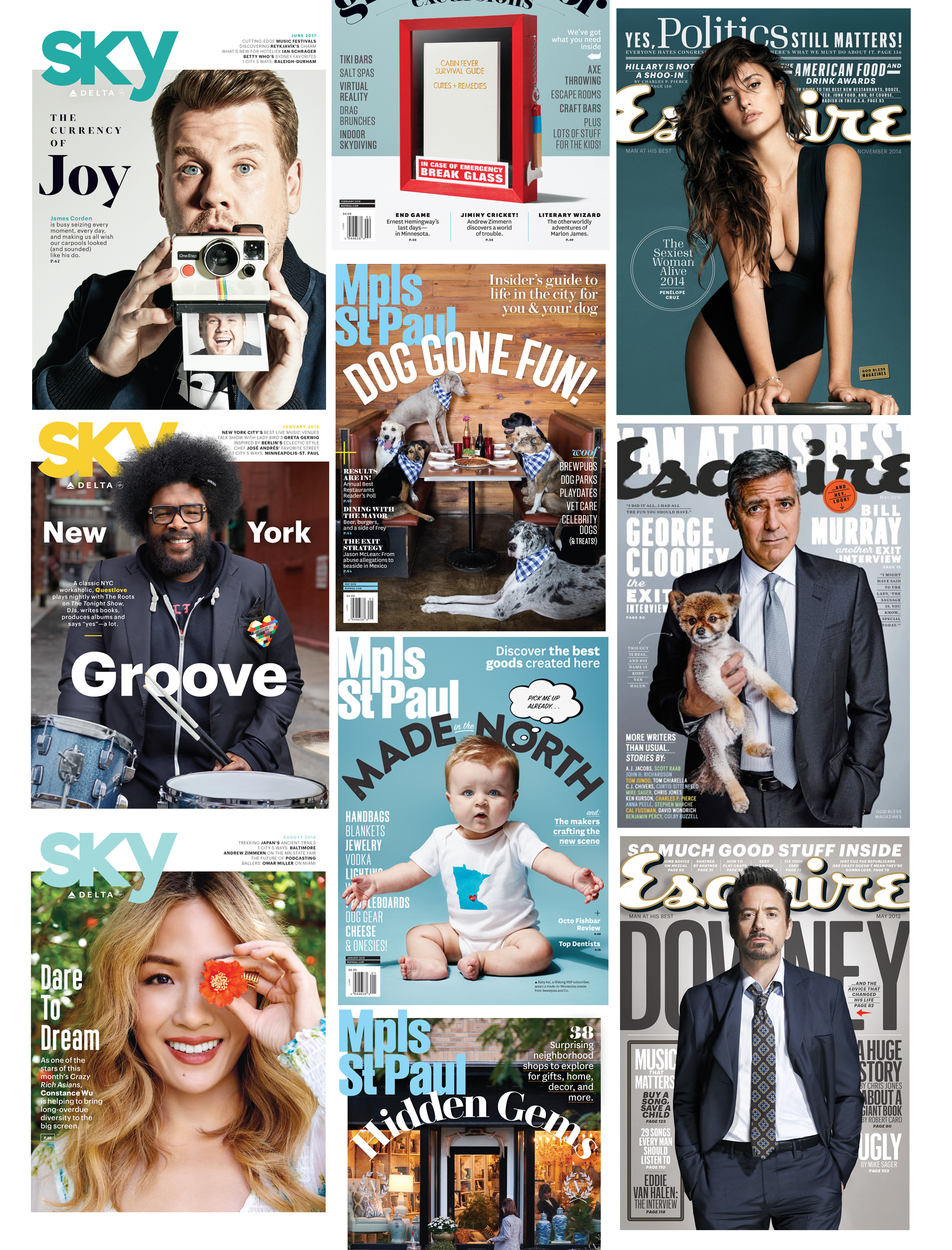 I've worked on over two hundred magazine covers. From A-List celebrities to world leaders, dogs to wild animals. They are all unique and exciting experiences. The following are just a few. I change them from time to time.