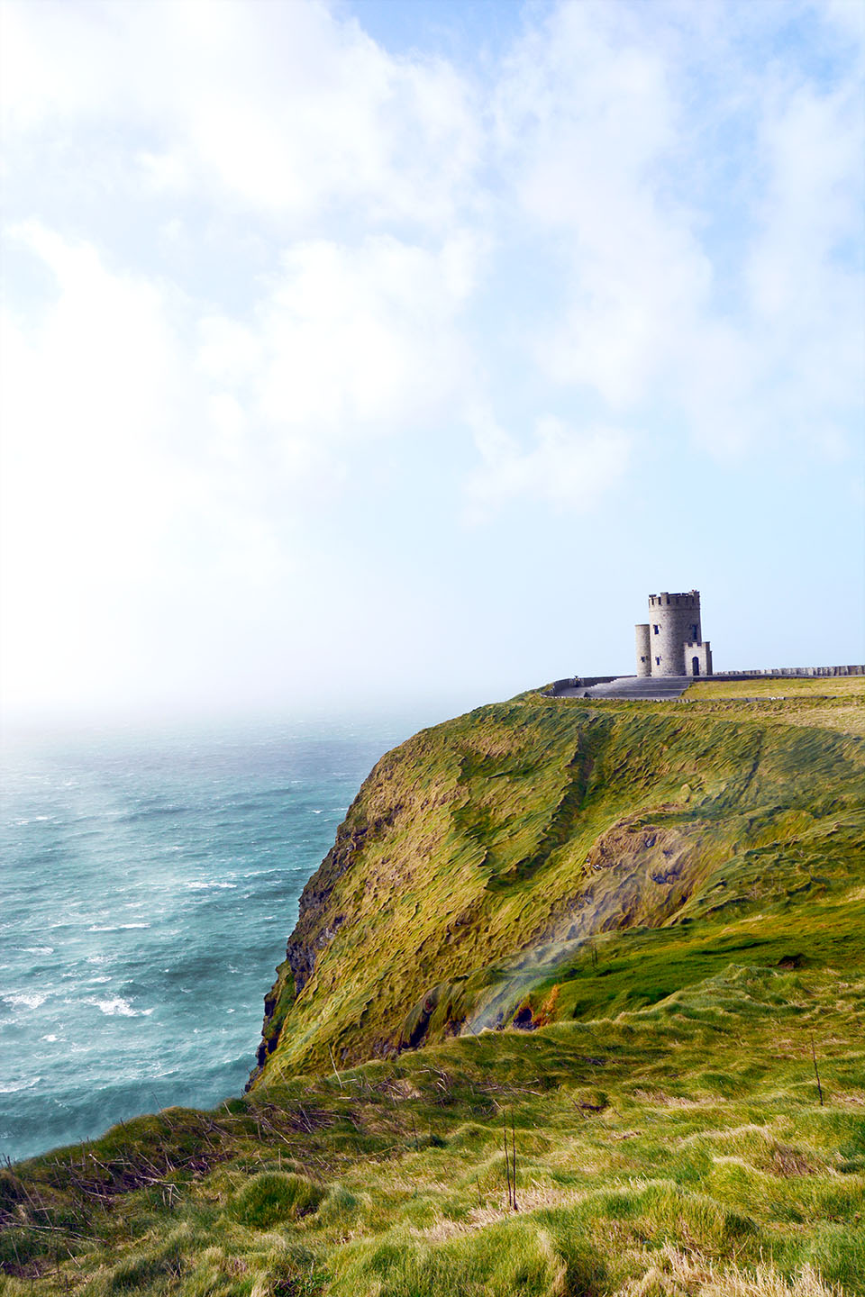 Cliffs of Moher: Castle is a gift shop and lookout point. Closed on windy days and off season.