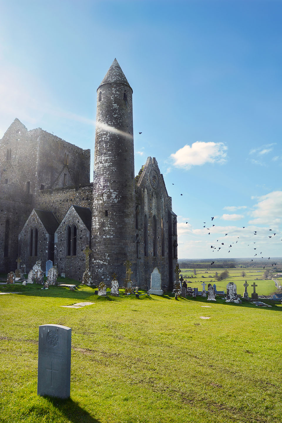 Rock of Cashel: Graveyard and Tower View