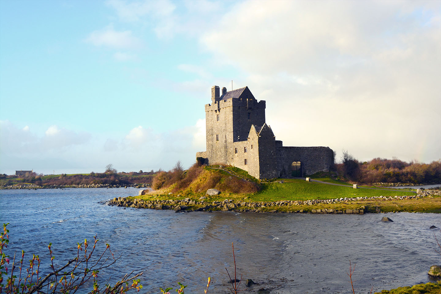 Dunguaire Castle on Galway Bay
