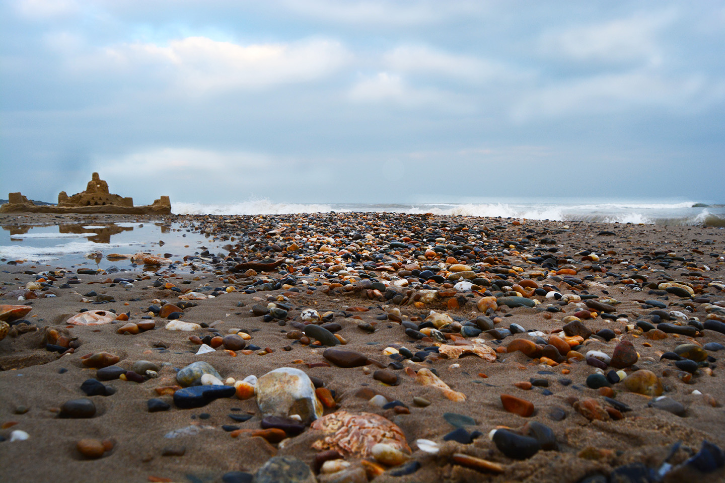Another view of the Irish Sea. Yes, I did take a whole bunch of rocks home because I'm that person.