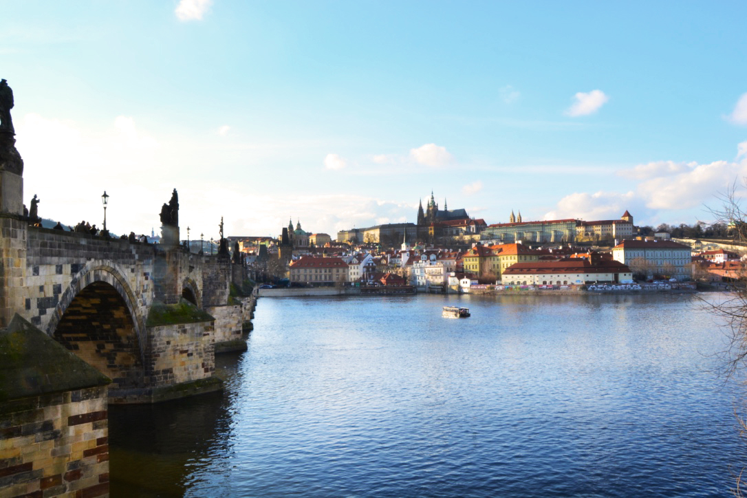 View from the Charles Bridge looking towards Prague Castle