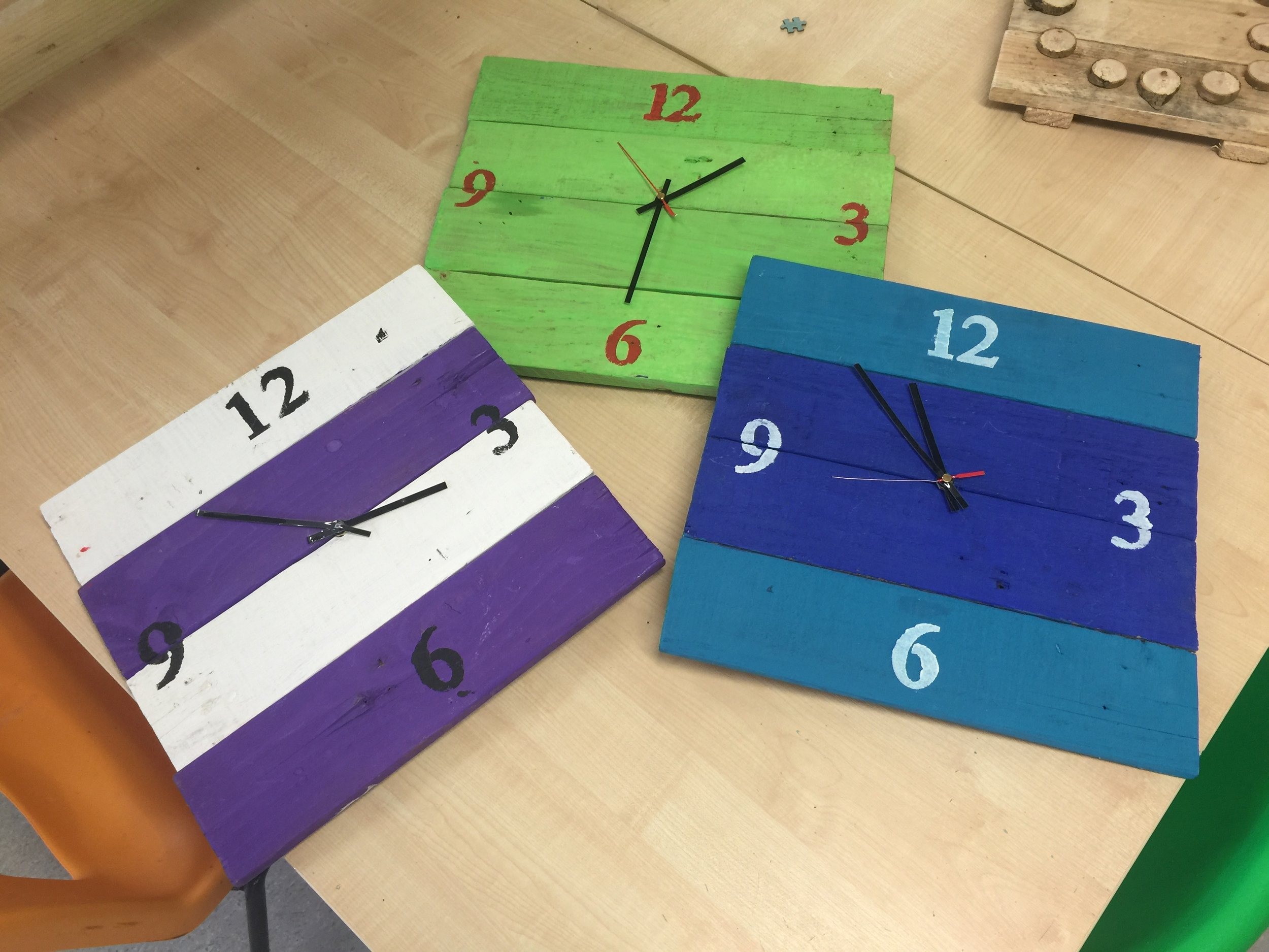 Stripey Clocks...any colour£10