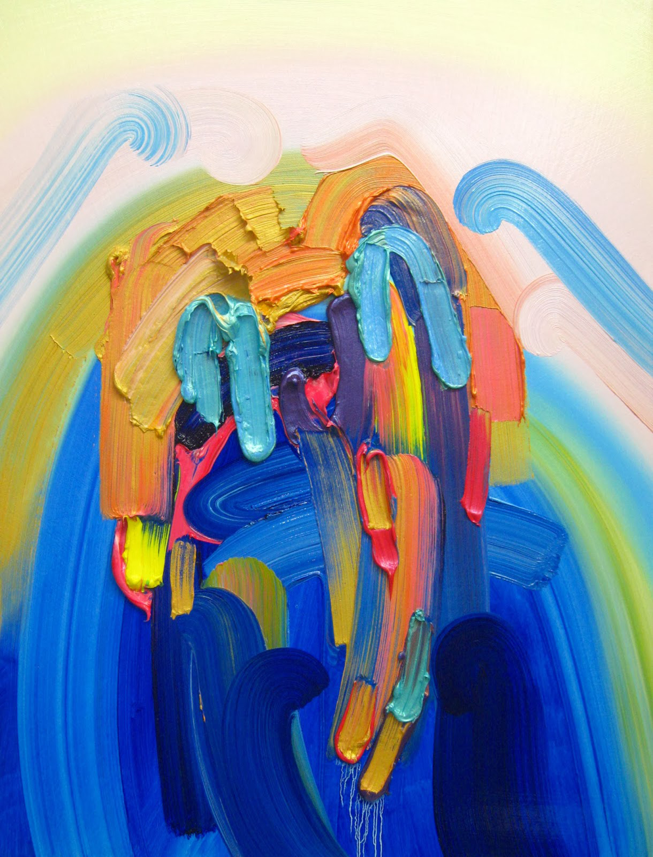 Cry Me A Rainbow River / oil on canvas / 24 x 18 inches