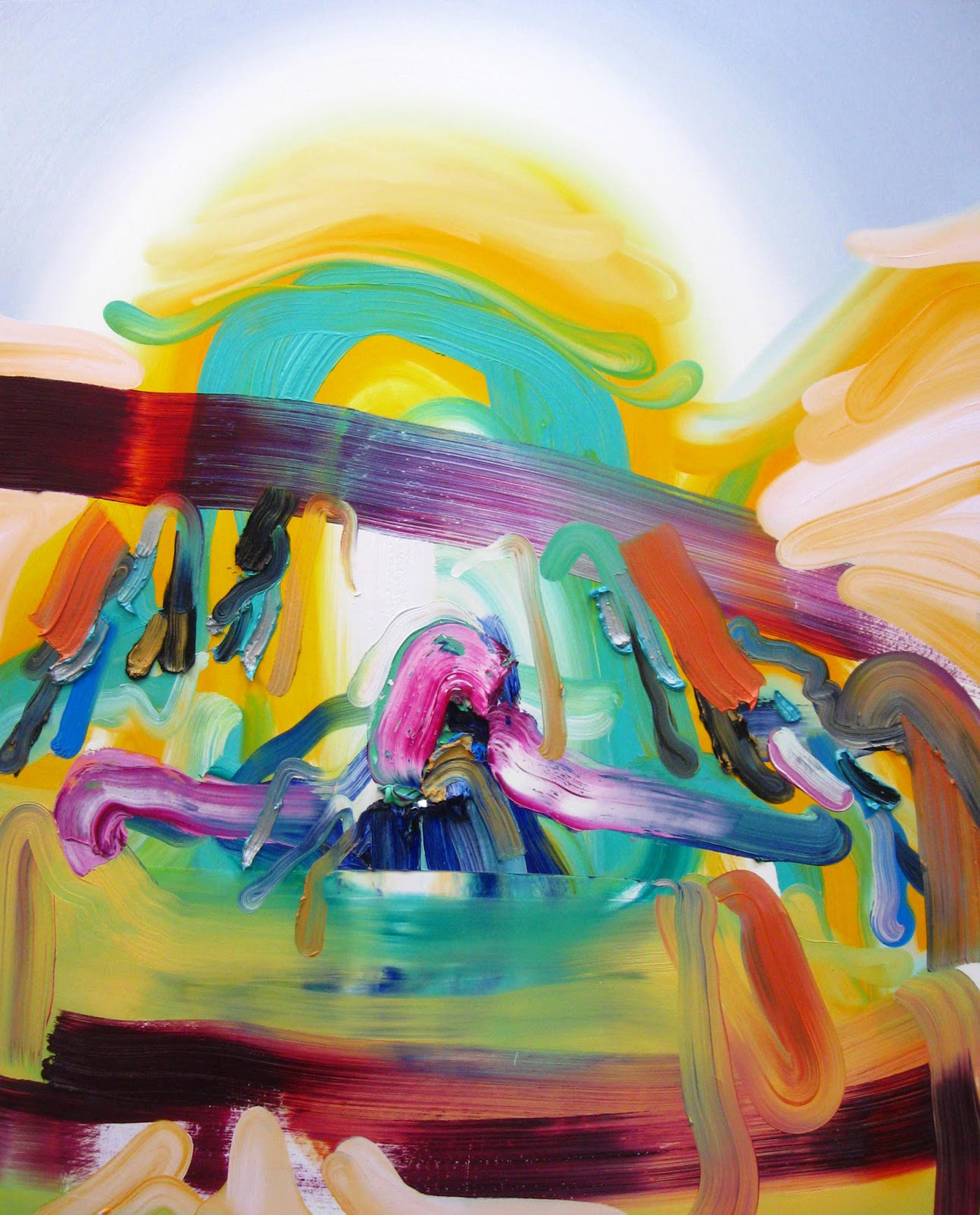 Rain Dance / oil on canvas / 50 x 40 inches