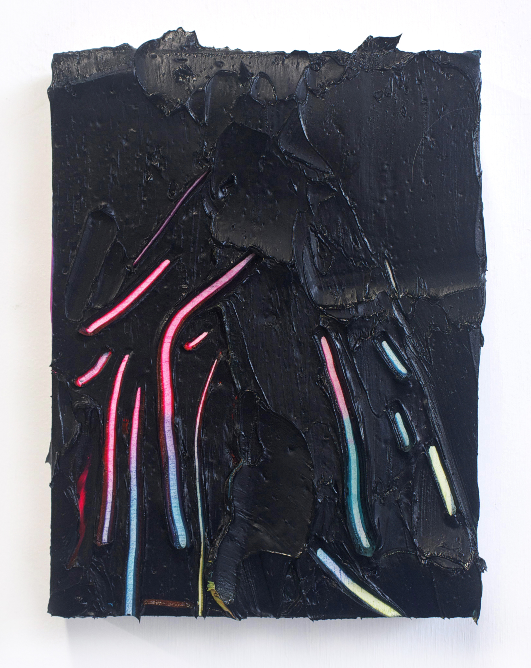 Glowsticks / oil on panel / 8 x 6 inches
