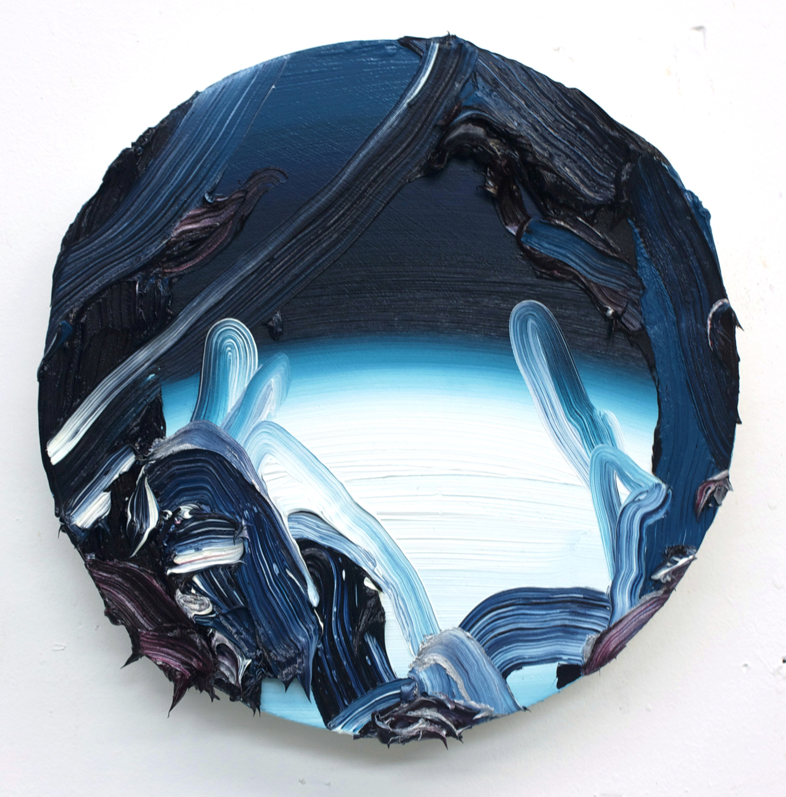 Blue Moon / oil on panel / 10 inch diameter