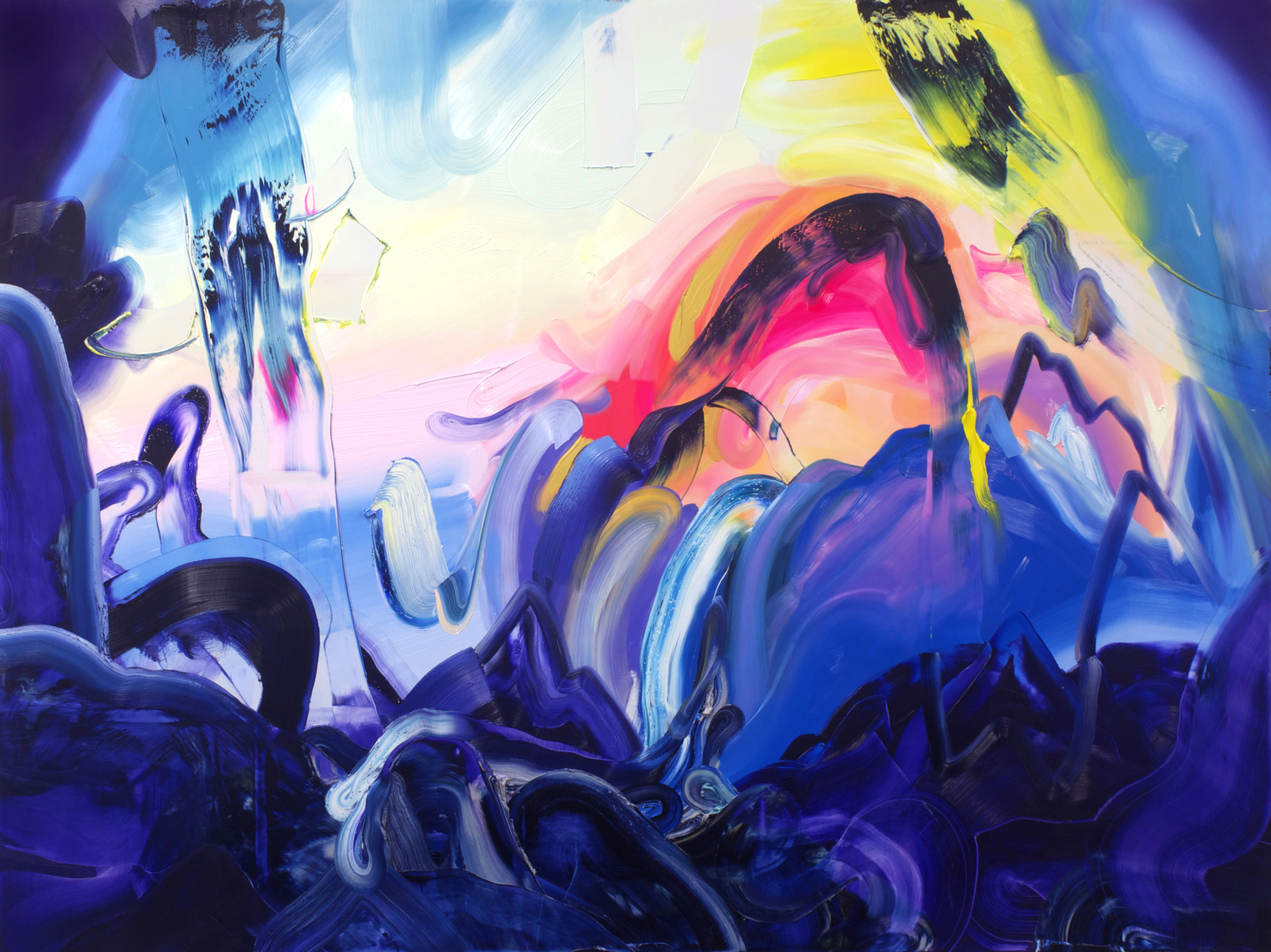 A Magic Spell for the Far Journey / oil on canvas / 72 x 96 inches