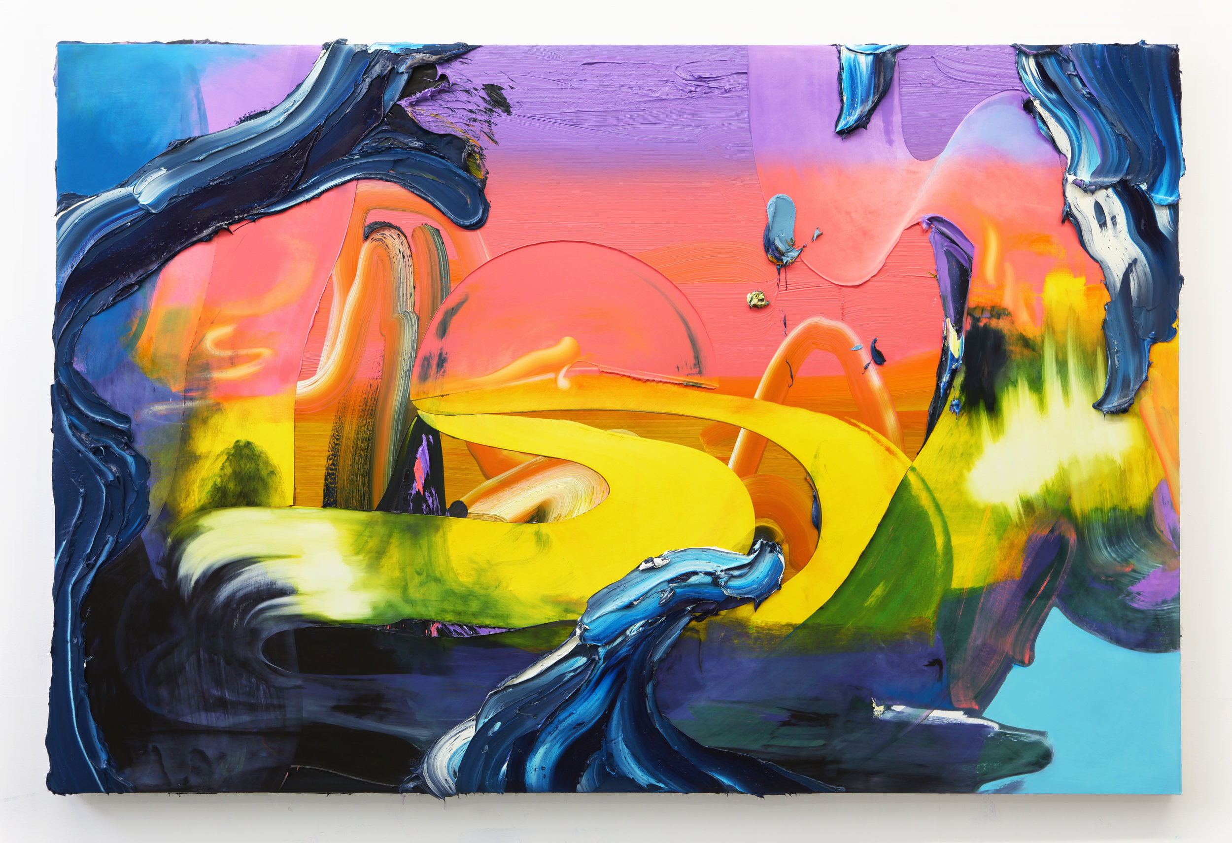 New World / 50 x 75 inches / oil on panel