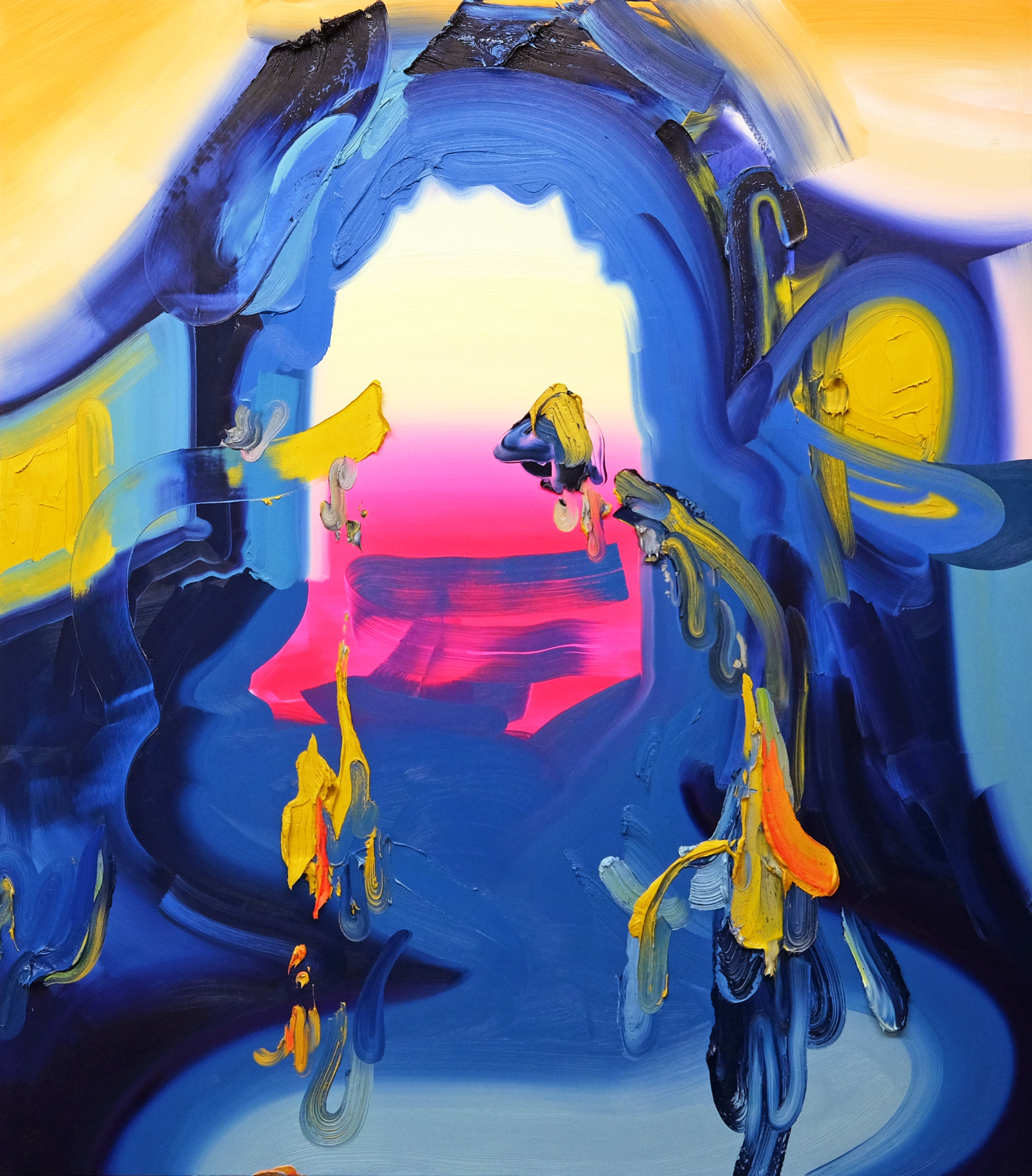 Gate / oil on canvas / 84 x 67 inches