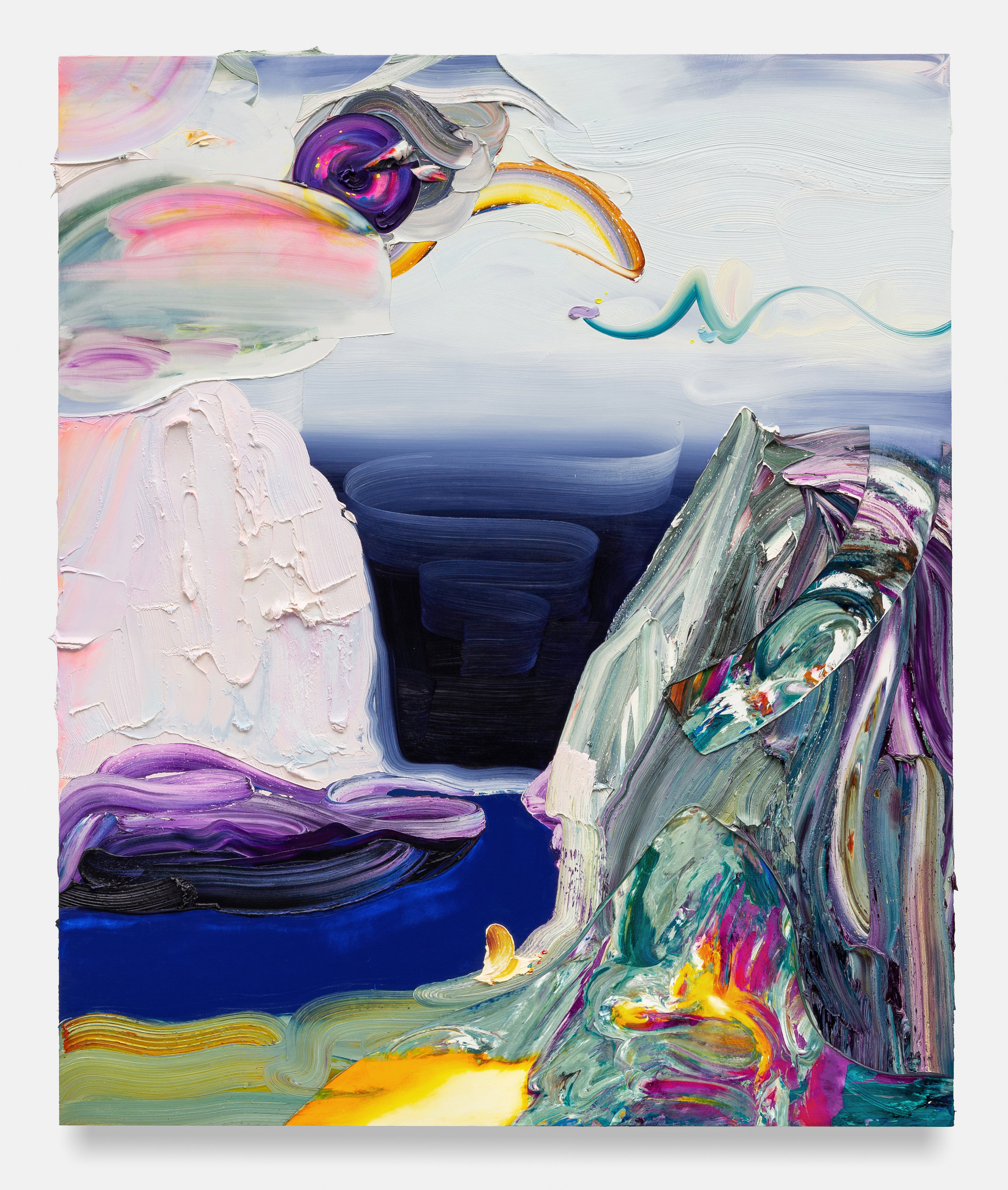Secret Earth / oil and cold wax medium / 72 x 60 inches (Available)