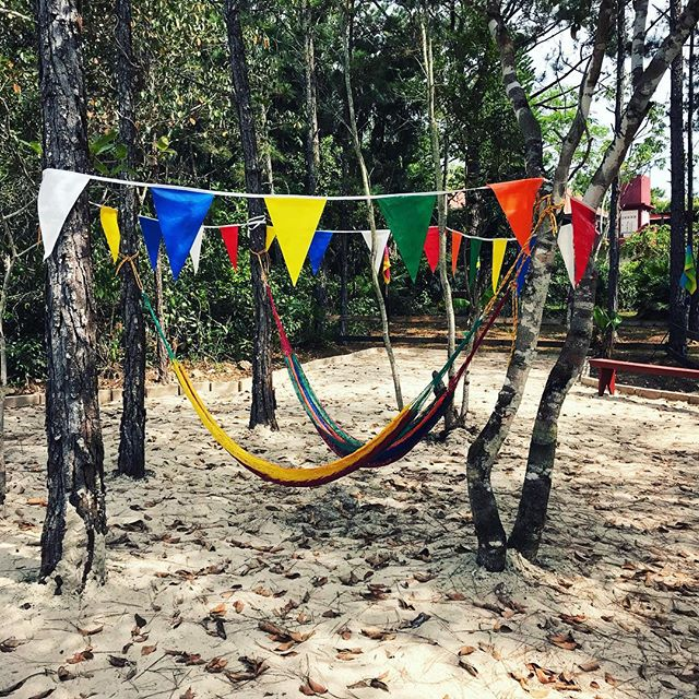 Our #belizestudyabroad #campground has the best #hammocktime spots 💛  #camping #belize #backpackingcentralamerica