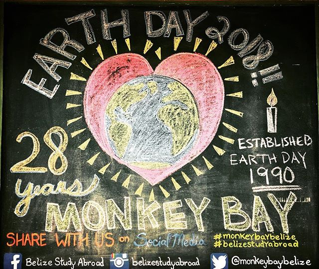 Happy #Earthday2018 🌎! Today Monkey Bay Wildlife Sanctuary also celebrates 28 years of #Education and #Conservation in Belize- our little corner of this precious planet ✨🇧🇿 ✨ #EarthdayEveryday