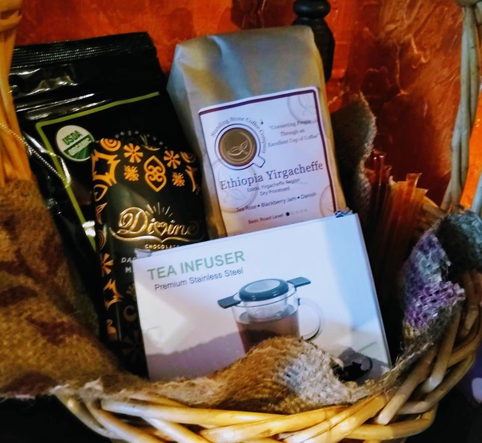 Standing Stone Coffee Company Gift Basket - The actual basket will vary from that pictured.Value: $75.00