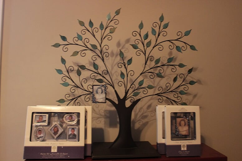 Family Tree Set - his classic retired Hallmark item features a metal tree and base that can stand alone or the tree can be removed from the stand to hang on the walls. Included frames are a beautiful way to hang family pictures from the tree!Retail Value: $60