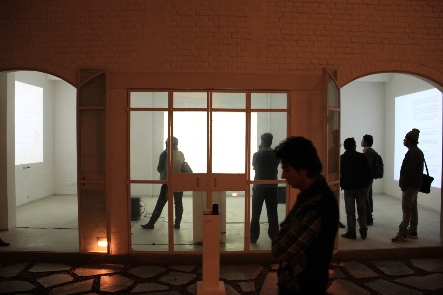 Exhibition view of  230 MB / EwO  (2013), photograph by Tenzing Sonam.
