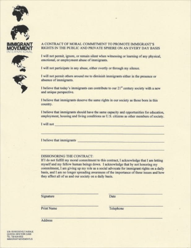 Tania Bruguera, A Contract of Moral Commitment to Promote Immigrant Rights , 2011.