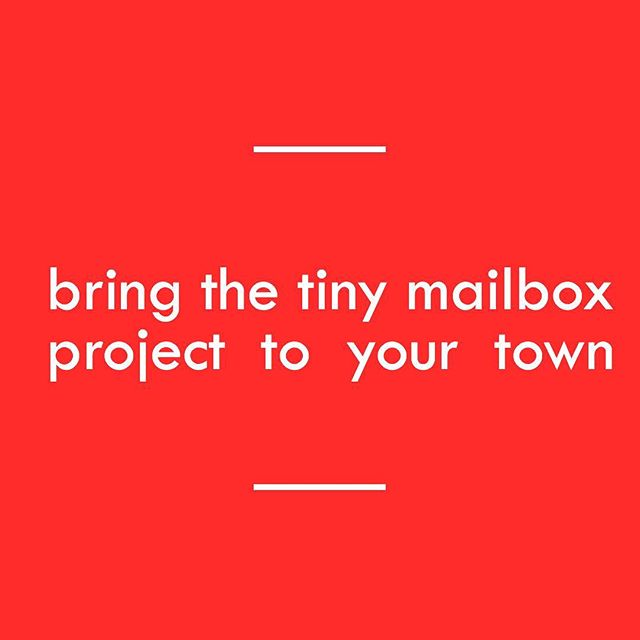 Curious about how to start the tiny mailbox project in your town? All your have to do is buy a mailbox in the link in our profile for $4.49. Then DM us your name/address/and how many mailboxes your bought and we will send you the rest of the supplies (pencil, envelopes, stickers, cards) and instructions from there! Thanks so much for being a part of this!