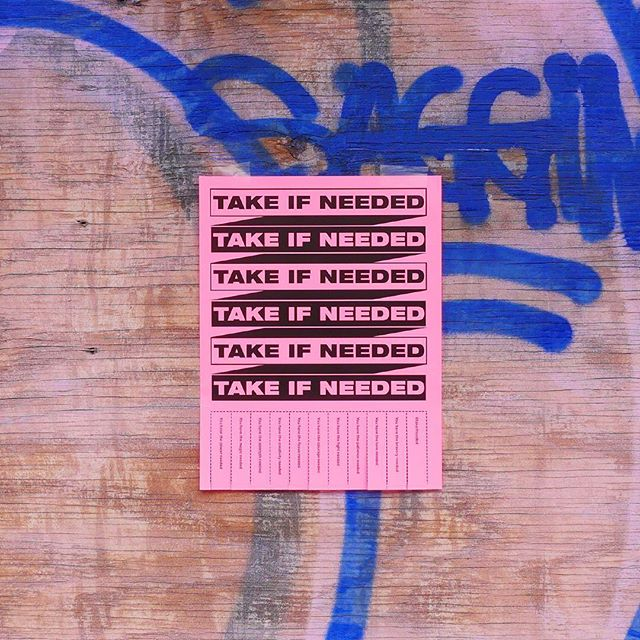 #takeifneeded . . . . . #brooklyn #graphicdesign #strength #takeifneeded #design #newyork #streetart