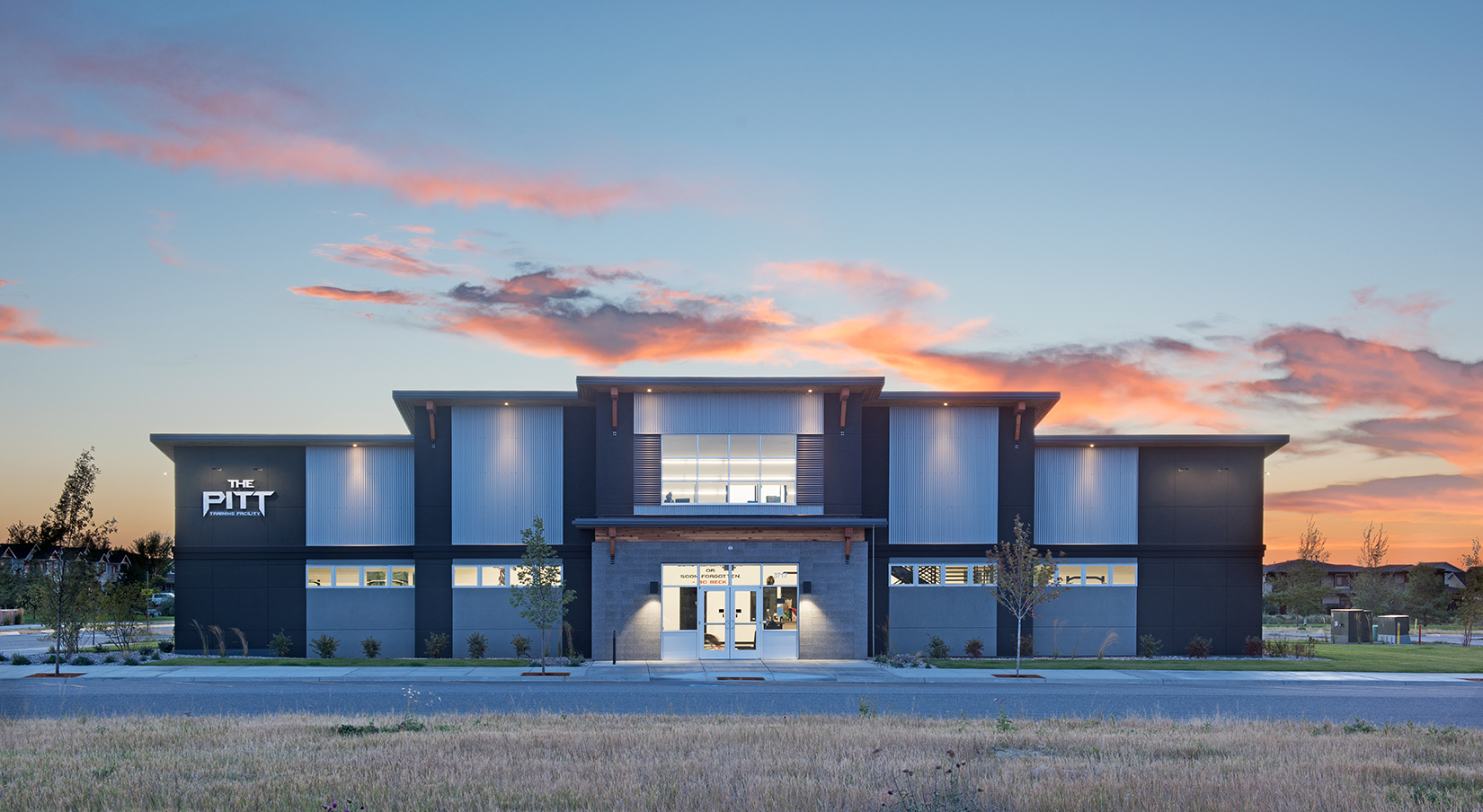 We had a killer sunset while shooting The Pitt Training Facility for  NE45 Architecture  in Bozeman.