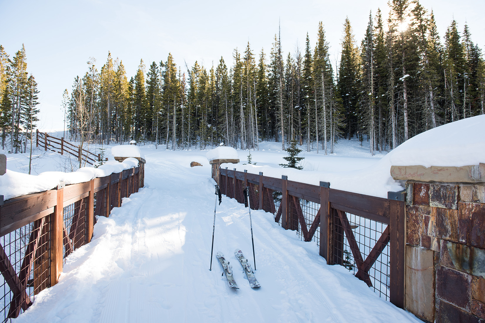 This home has a private ski-way for quick access to the slopes.