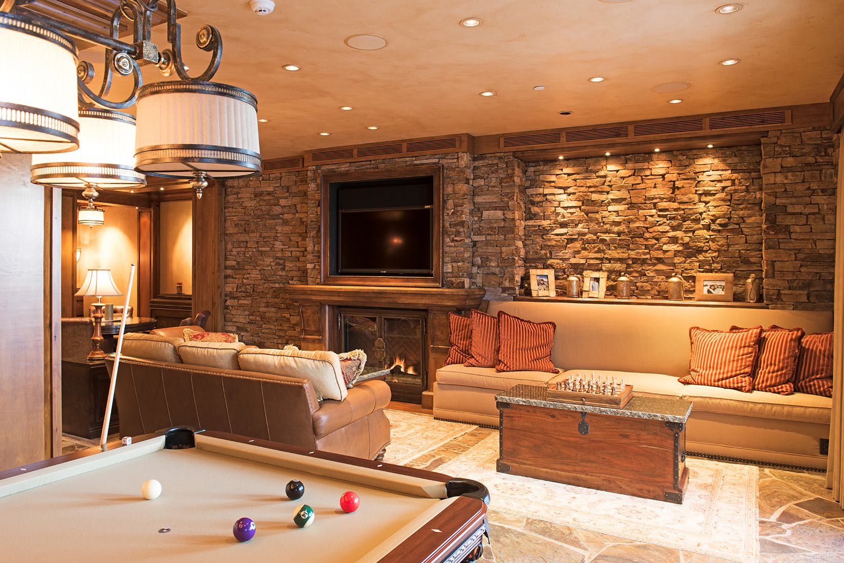 What's a ski home without a recreation room?