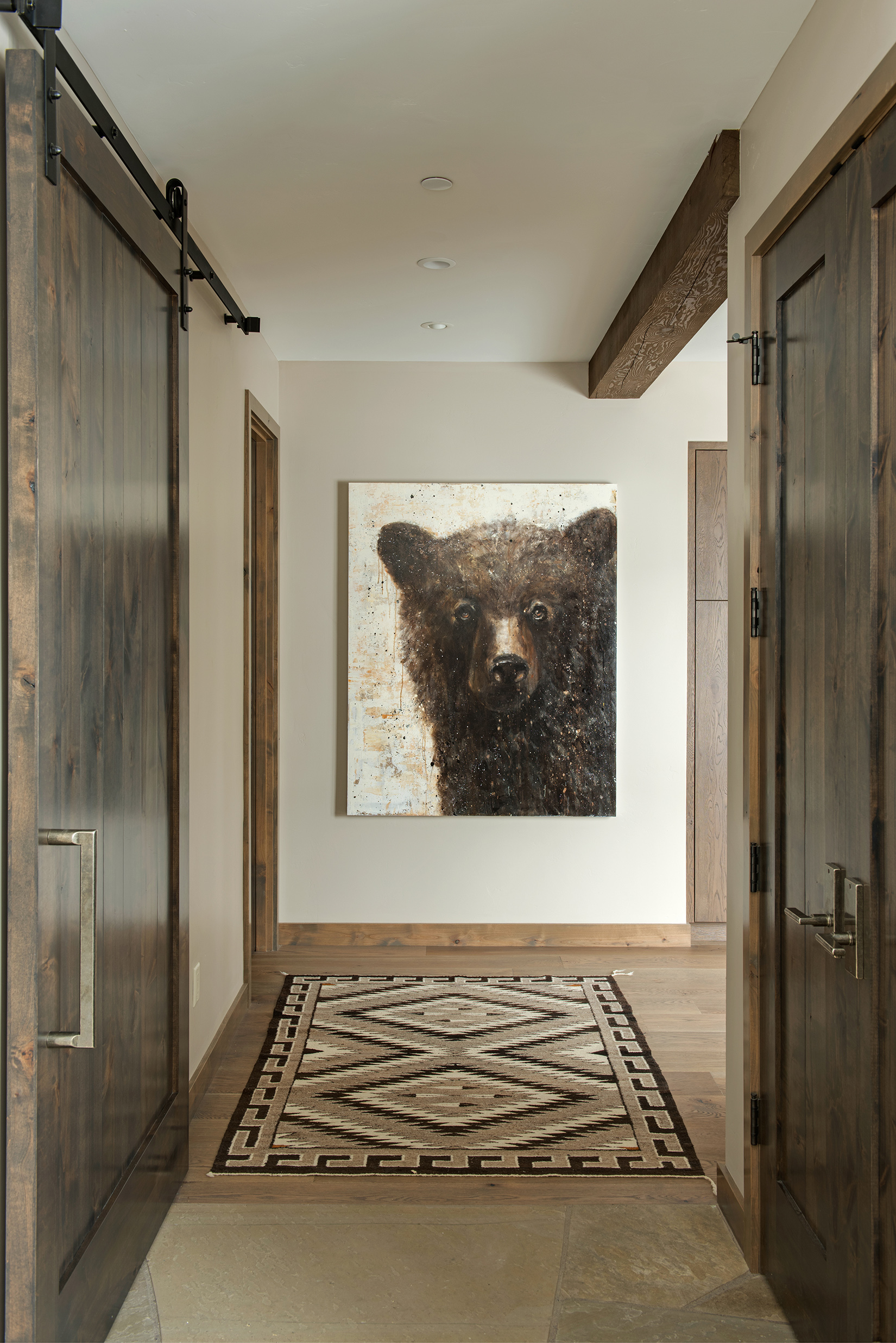 I love the art in this back hallway.