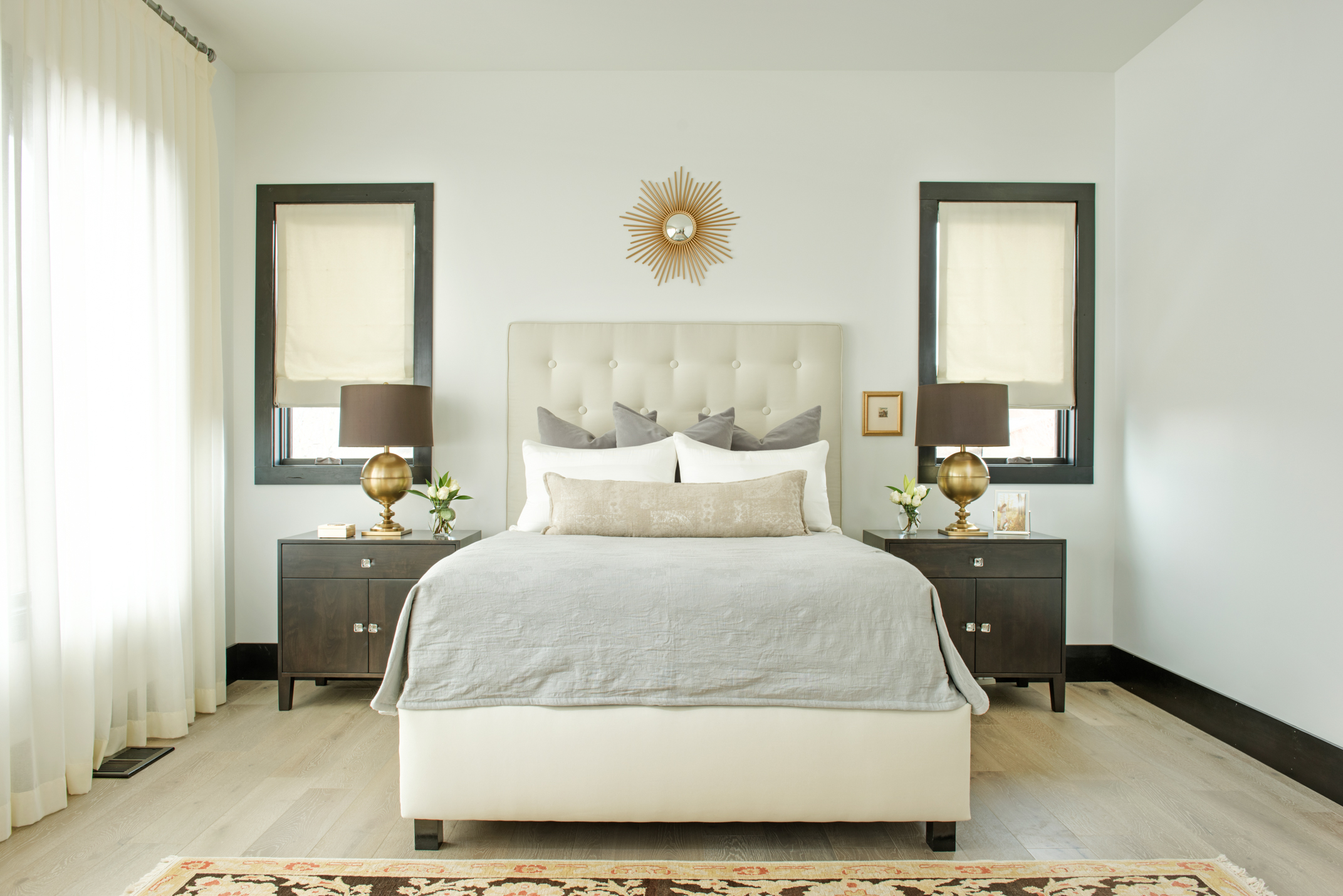 I love this master bedroom - so clean and airy feeling. The perfect place to relax after a long day!