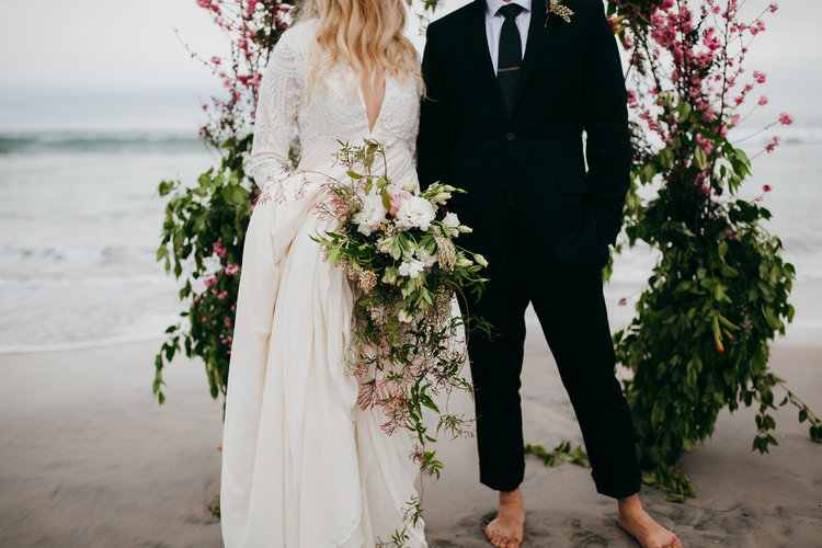 Blooming Jasmine and Cherry Blossom Elopement at Torrey Pines
