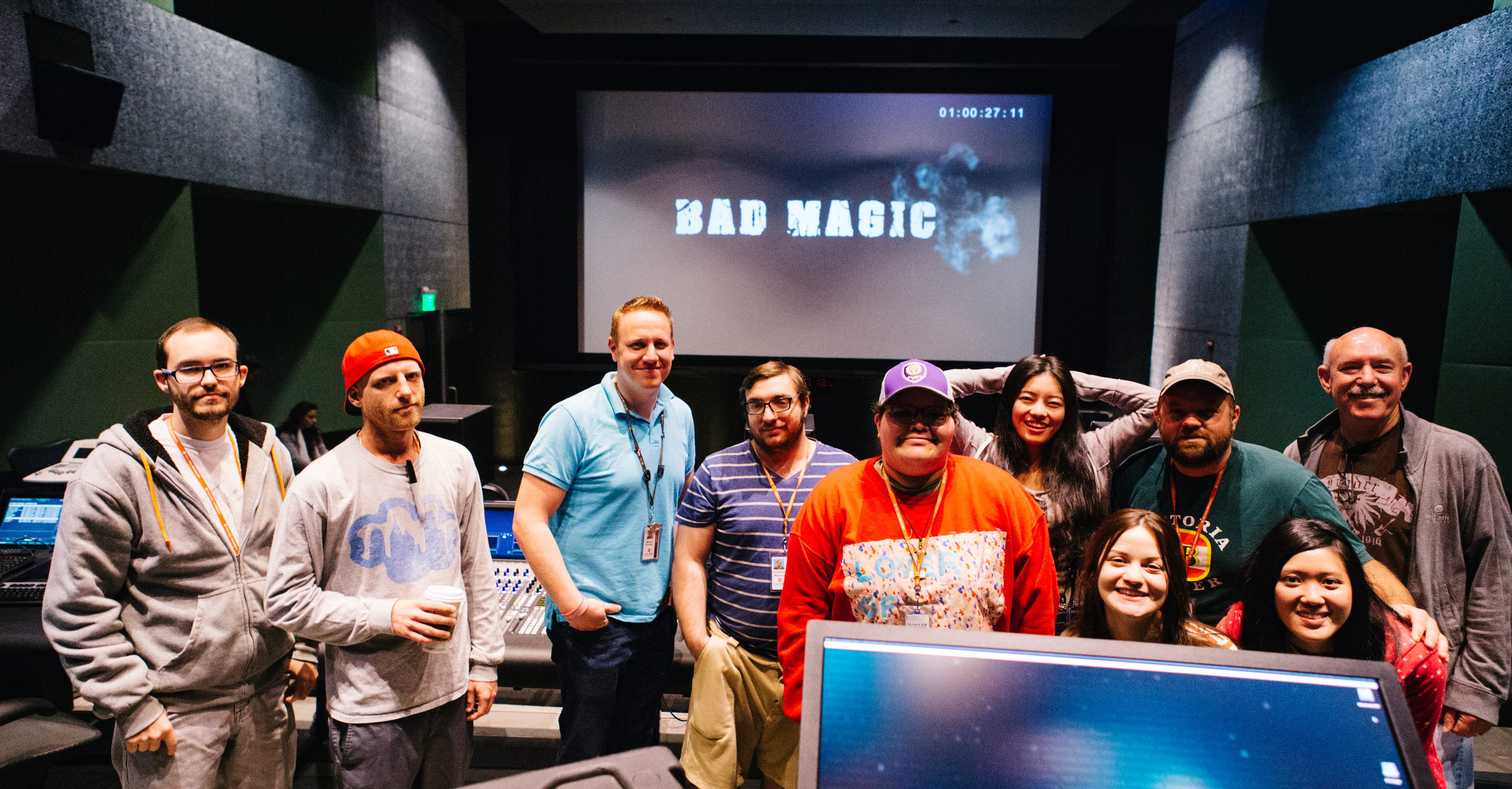 The Crew of Bad Magic with our amazing sound mixer / professor Academy Award winner Bill Benton!