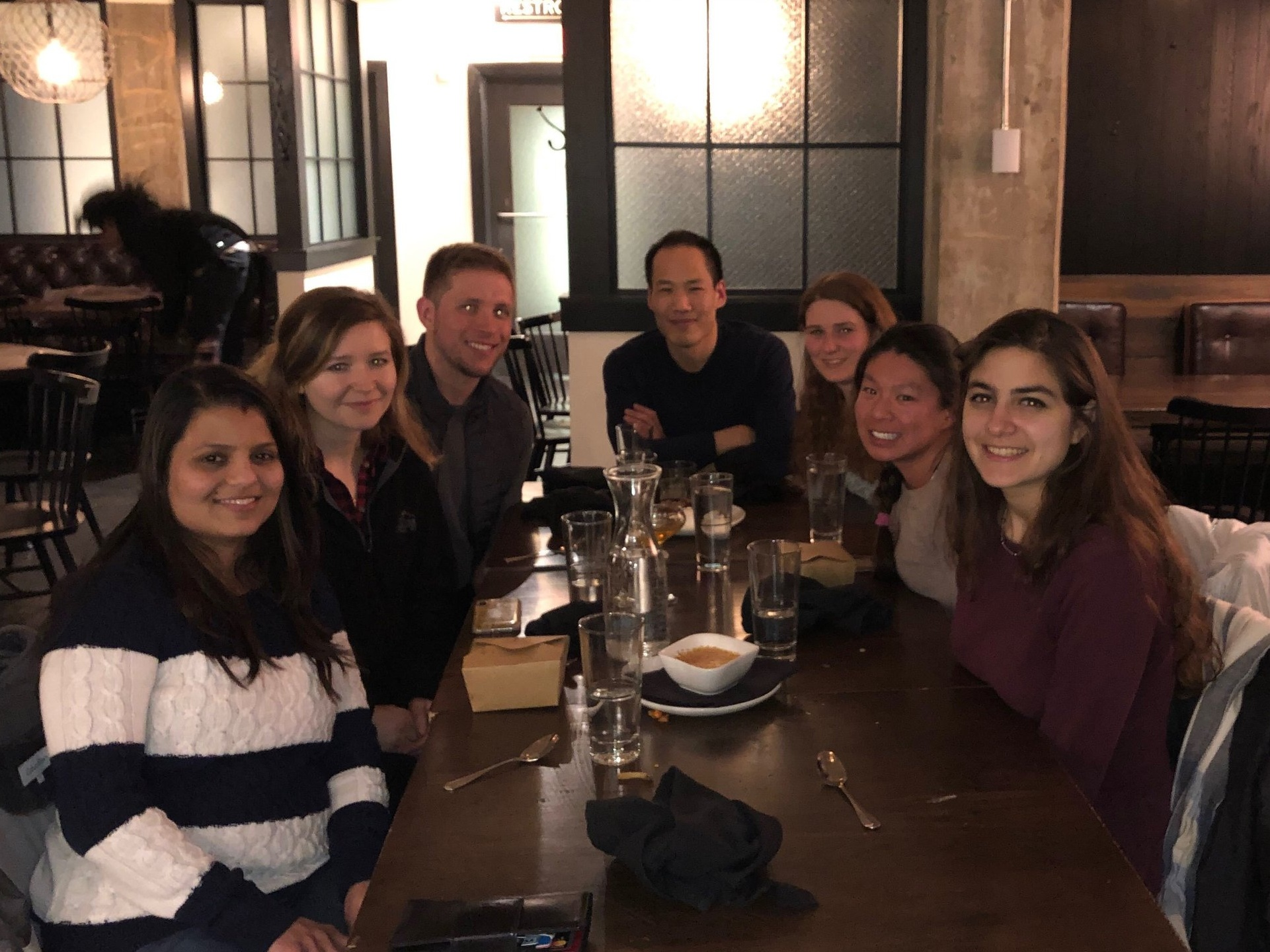 The LSD1 project was (and still is) a huge, interdisciplinary endeavor that required the coordinated efforts of many members of our lab (as well as collaborators) in a diverse array of fields. Here, the core members of the LSD1 team celebrate a hard-won success. Congratulations!