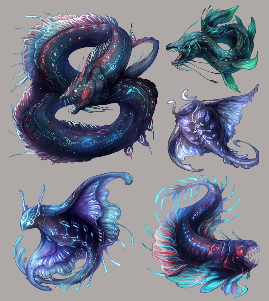 freelance work - monster designs.