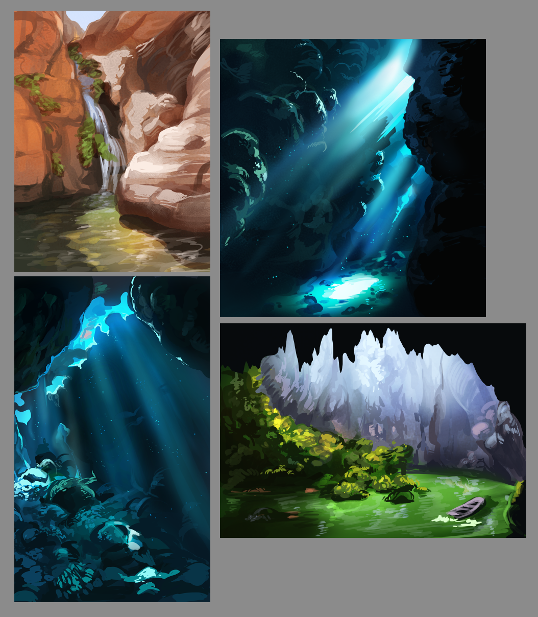 30 minute environmental studies from photograph.