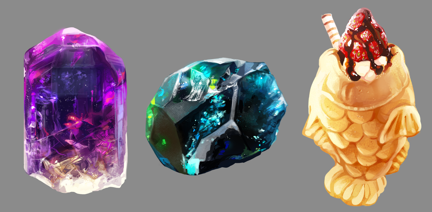 30 minute object studies from photograph.