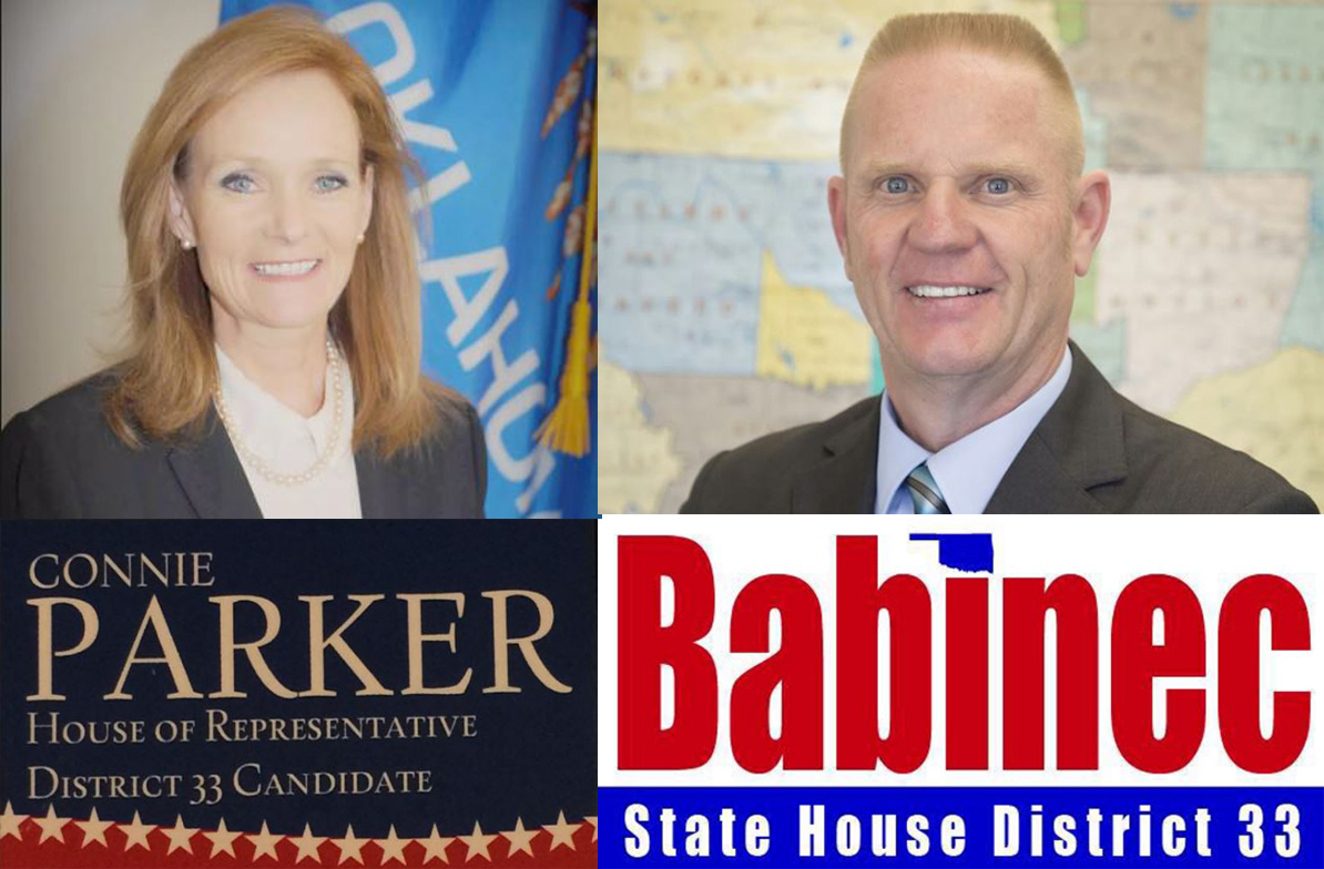 Connie Parker (R) and Greg Babinec (R) running for District 33 State Representative