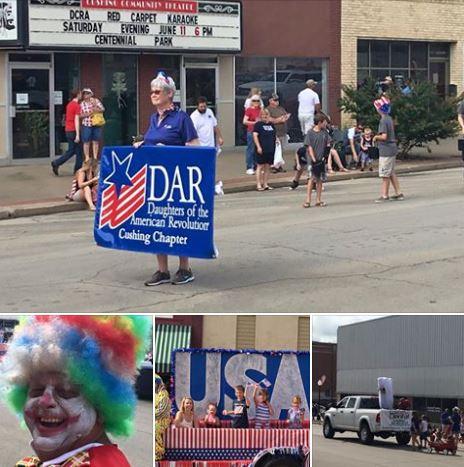 Bottom left Lee Skinner as a parade clown.