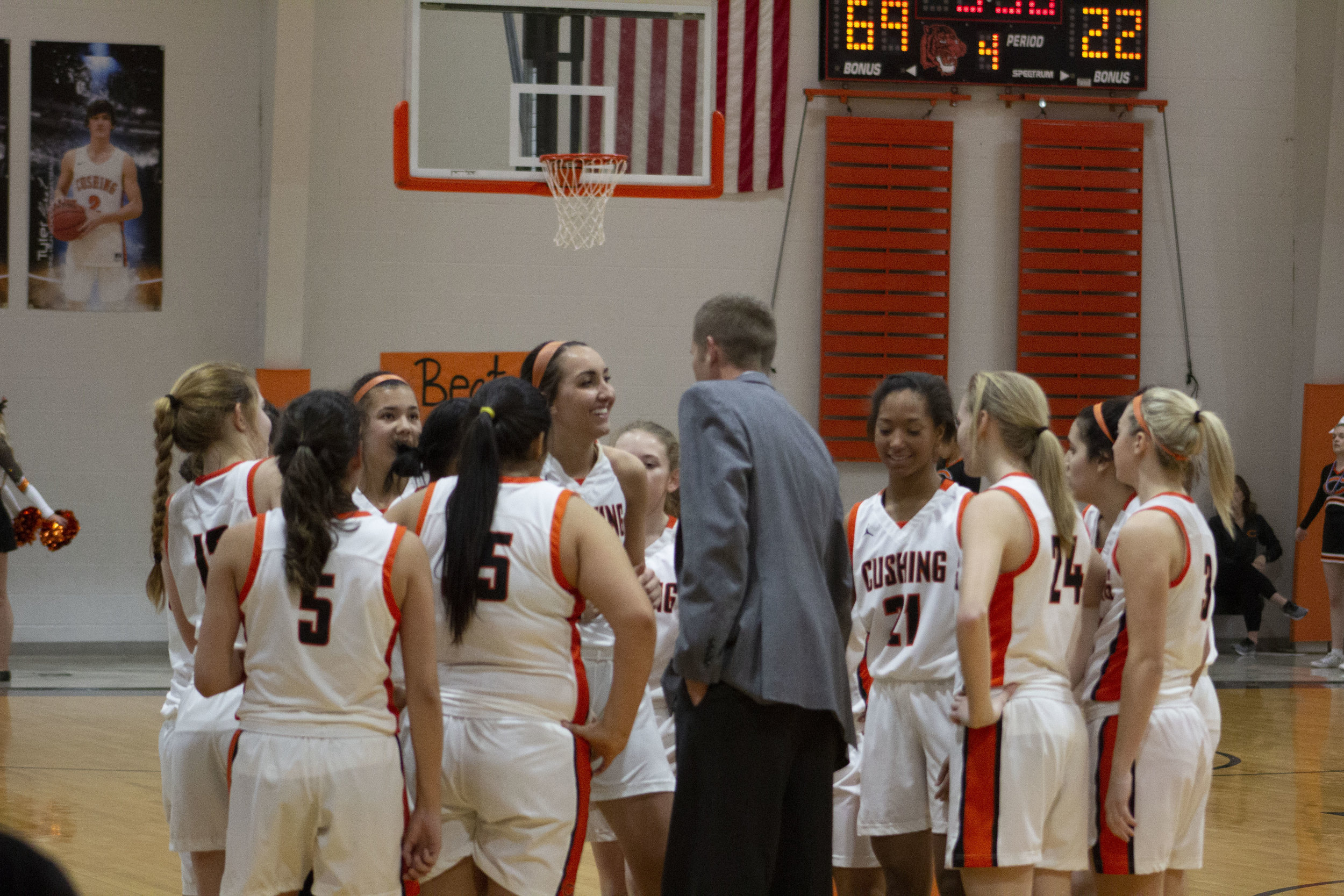 Lady TiGERS receiving instruction from Coach Brian Busby - RDMGtv