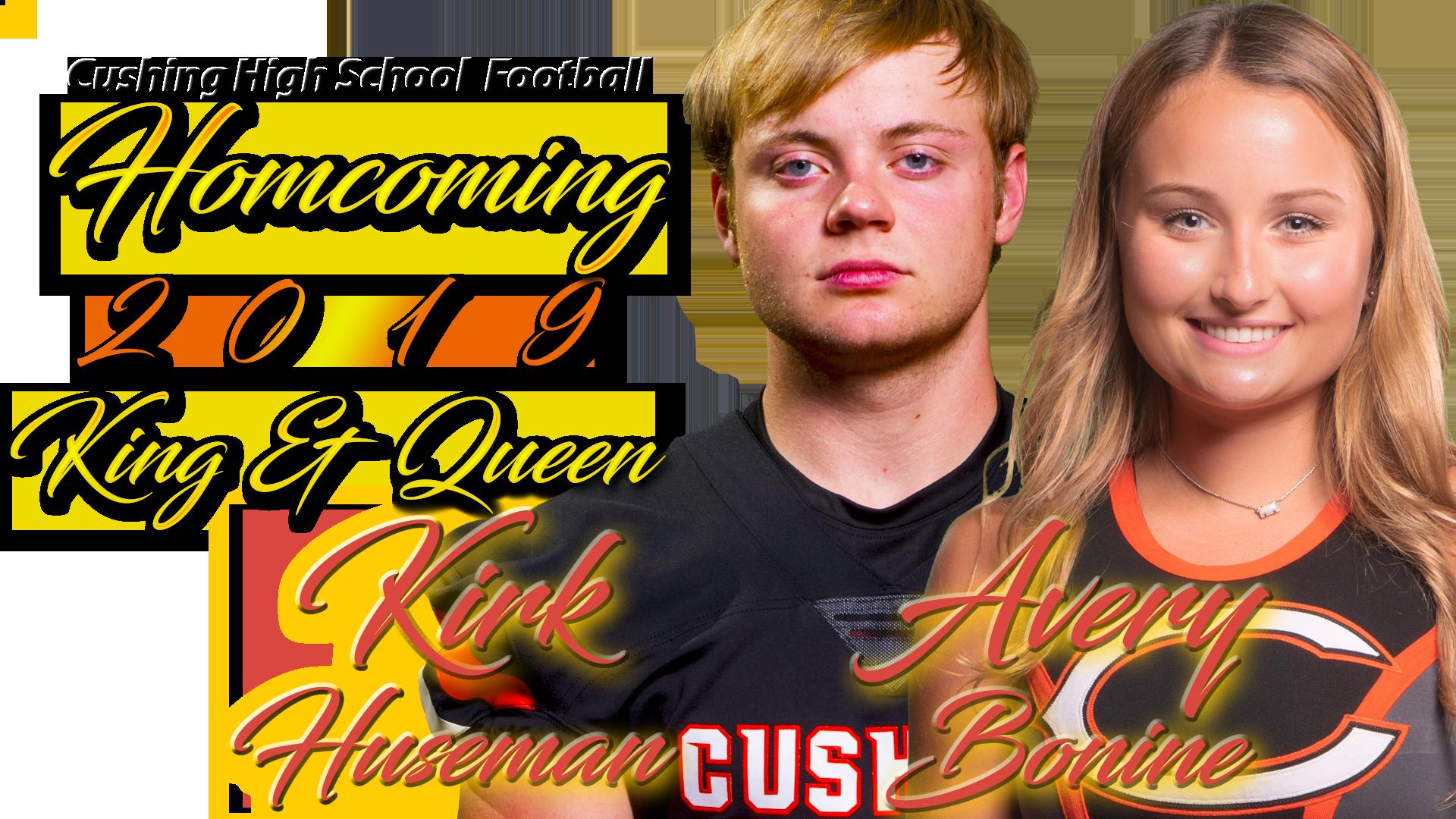 Cushing High School Home comng 2019 King & Queen.