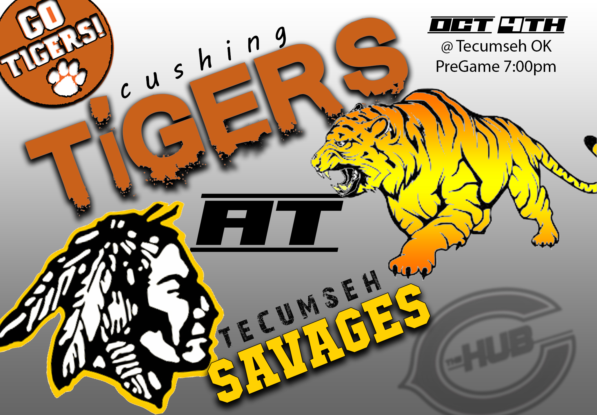 TiGERS @ Tecumseh Friday 7:30pm - Download the Cushing Hub App on iTunes or Google Play!